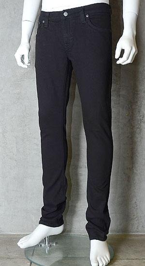 ヌーディージーンズ(nudie jeans)LONG JOHN(ロングジョン)BLACK BLACK【送料無料】