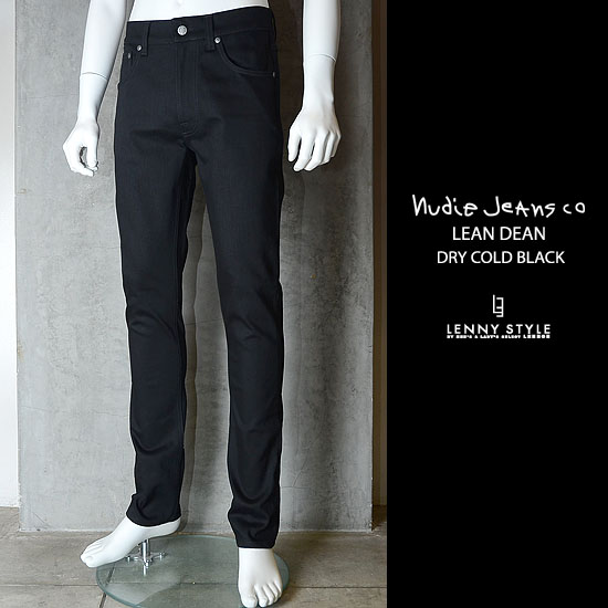 nudie jeans (ヌーディージーンズ)LEAN DEAN(リーンディーン)DRY COLD BLACK【送料無料】