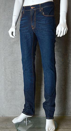 ヌーディージーンズ(nudie jeans)THIN FINN(シンフィン)DARK NAVY DIP【送料無料】