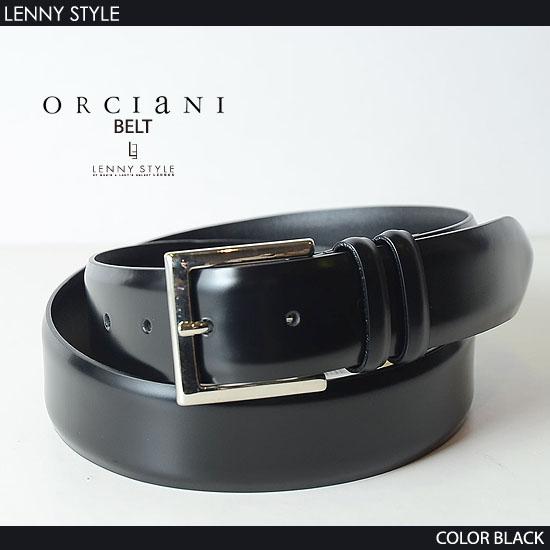 ORCIANI (オルチアーニ)ベルト-ブラック【送料無料】