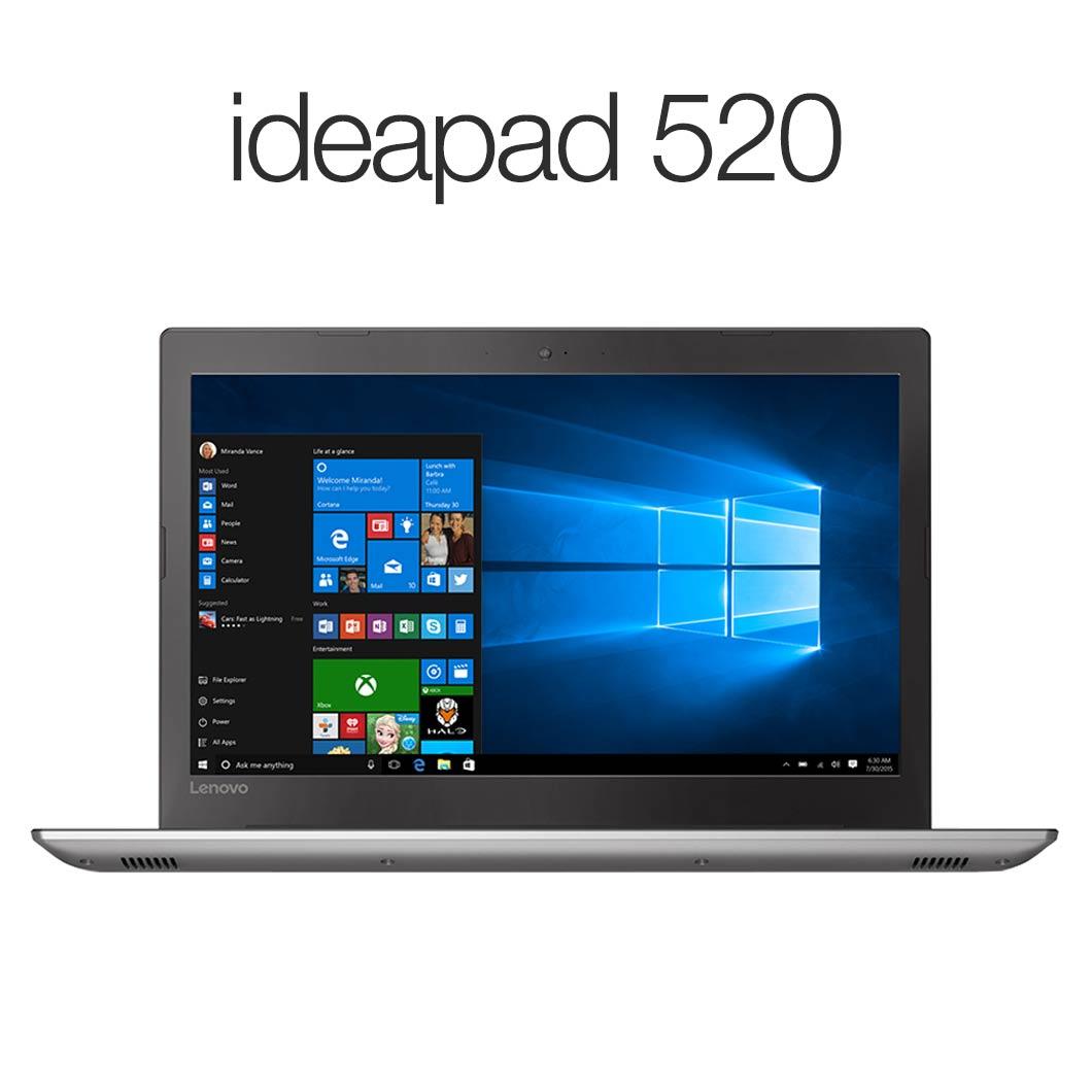 直販 ノートパソコン:Lenovo ideapad 520 Corei5搭載(15.6型 FHD/8GBメモリー/256GB SSD/Windows10/Officeなし/アイアングレー)【送料無料】