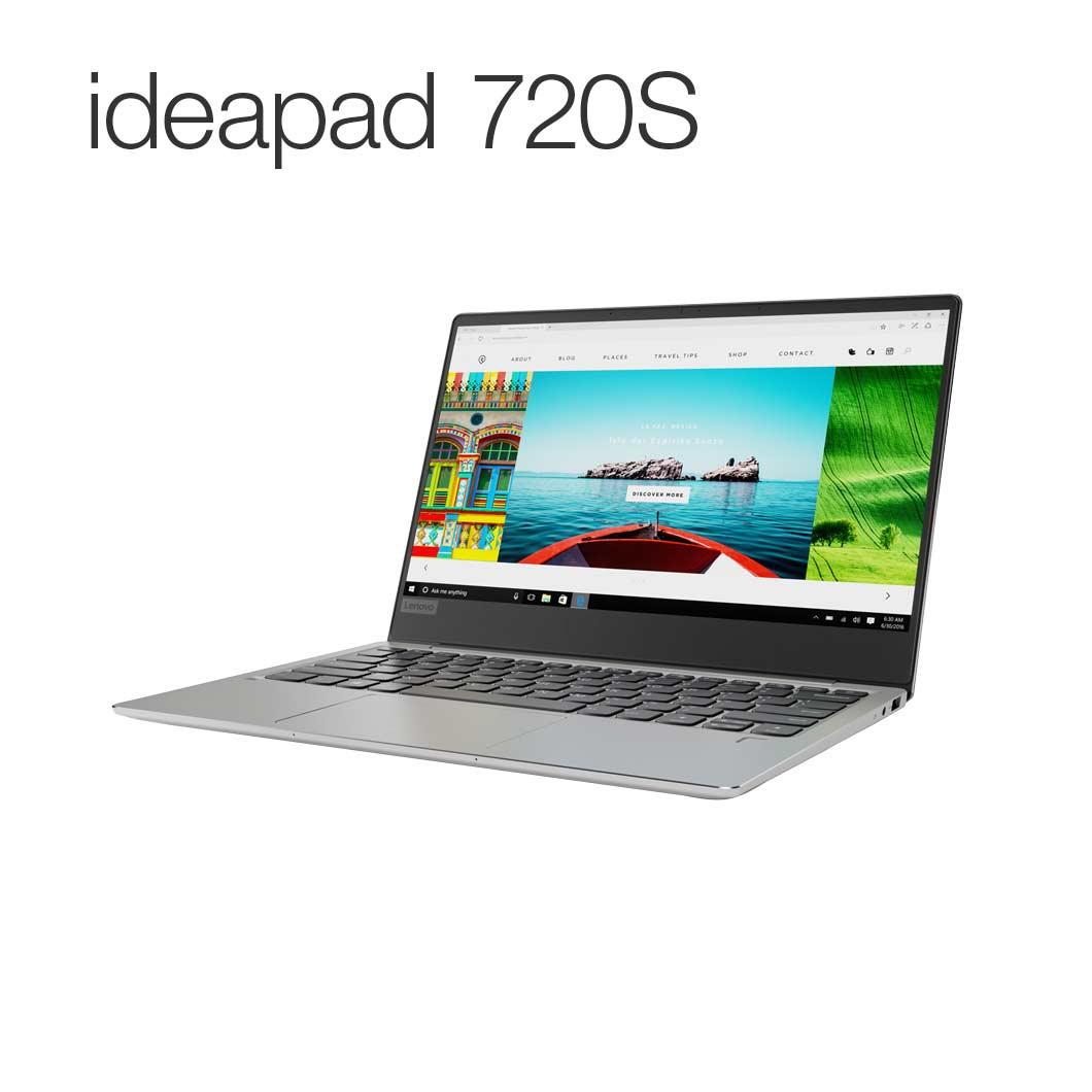 直販 ノートパソコン:Lenovo ideapad 720S :Corei7搭載(13.3型 FHD/8GBメモリー/512GB SSD/Windows10/Officeなし/プラチナ)【送料無料】