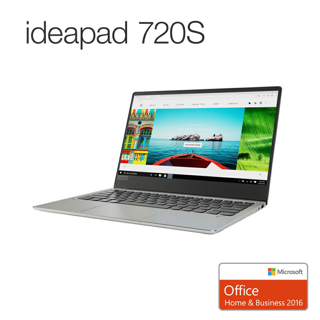 直販 ノートパソコン Officeあり:Lenovo ideapad 720S :Corei7搭載(13.3型 FHD/8GBメモリー/512GB SSD/Windows10/Microsoft Office Home & Business 2016/プラチナ)【送料無料】