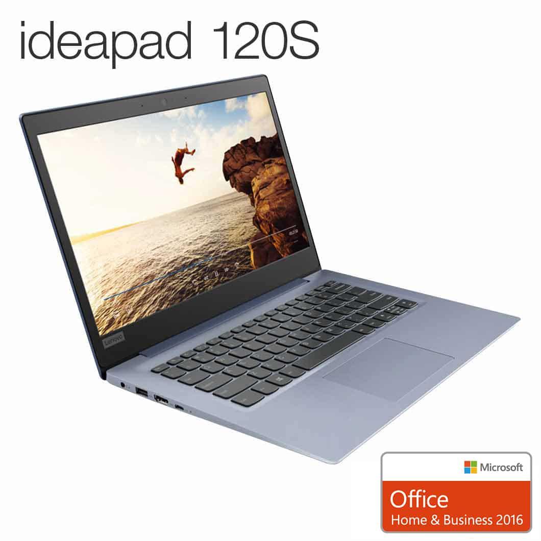 直販 ノートパソコン Officeあり:Lenovo ideapad 120S Celeron搭載(14.0型/4GBメモリー/128GB SSD/Windows10/Microsoft Office Home & Business 2016/ミネラルグレー)【送料無料】