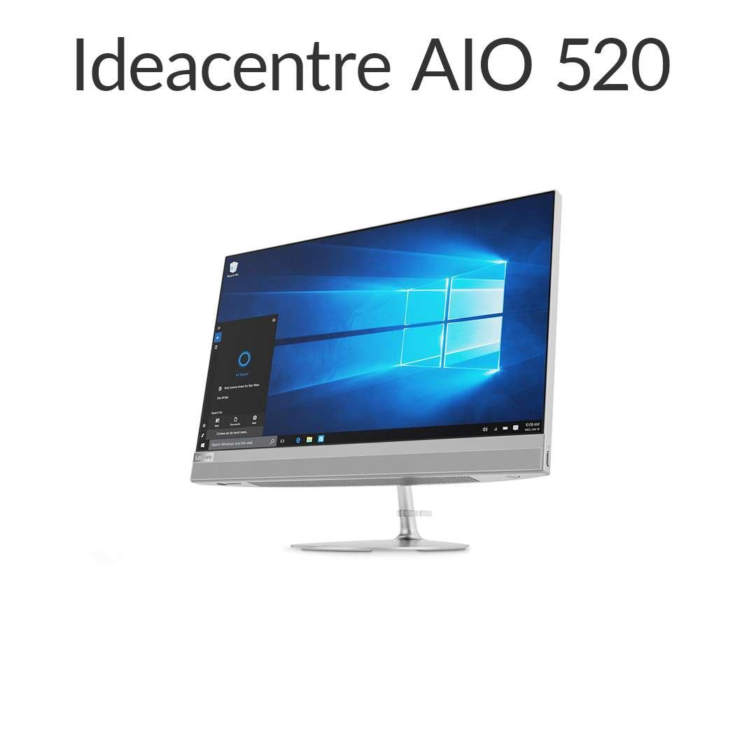 直販 デスクトップパソコン:Lenovo ideacentre AIO 520 Core i5搭載(8GBメモリ/1TB HDD/21.5型 FHD液晶一体型/Officeなし/シルバー)【送料無料】