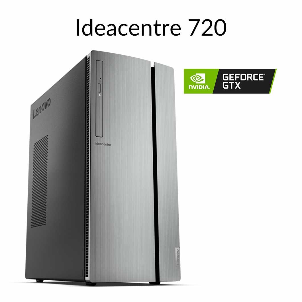 【今なら5,500円OFFクーポン】直販 デスクトップパソコン:Lenovo Ideacentre 720 Core i5搭載(8GBメモリ/1TB HDD/16GB Optane メモリー/NVIDIA GeForce GTX 1650/モニタなし/Officeなし/Windows10)【送料無料】