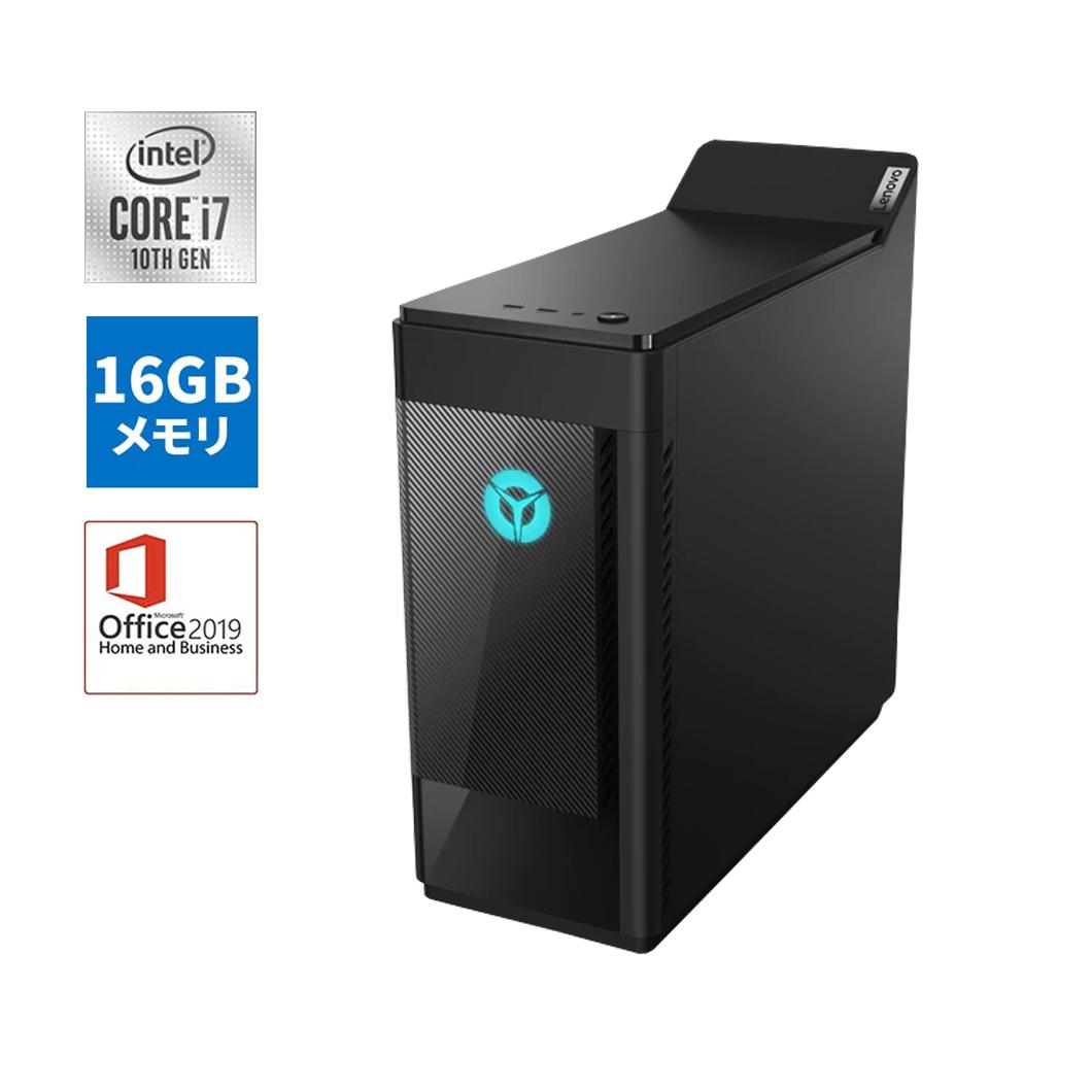 【今なら5,500円OFFクーポン】直販 ゲーミングPC:Lenovo Legion T550i Core i7搭載(16GBメモリ/2TB HDD/512GB SSD/NVIDIA GeForce RTX 2070 SUPER/モニタなし/Microsoft Office Home & Business 2019/Windows10/ブラック)【送料無料】