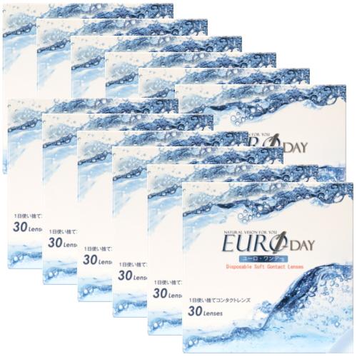 終売のピュアナチュラルワンデー 含水率38% からのお乗換えはこちら 12箱 送料無料 格安 ユーロワンデー ワンデー 1day 1日使い捨てコンタクトレンズ 30枚入 宅配便送料無料 EURO ユーロ