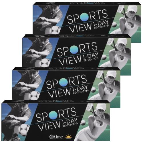 【送料無料】【4箱】スポーツビューワンデー 30枚入り 4箱 アイミー コンタクトレンズ 1日使い捨て Aime sports view 1day