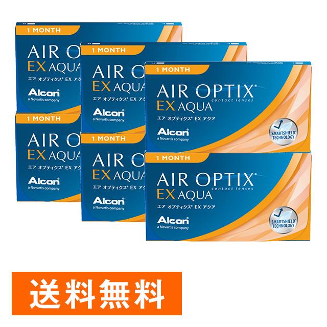 エアオプティクスEX アクア ×6箱セット アルコン(旧チバビジョン) コンタクト コンタクトレンズ クリア 1ヶ月 マンスリー 使い捨て ソフト 送料無料