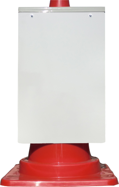 カラーコーンが看板に早変わり 特注看板も承ります カラーコーン取り付け用看板 白無地 メイルオーダー コーン標識 反射 コーンサイン 中古 サインパネル