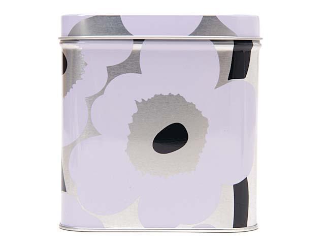 marimekko marimekko unikko UNIKKO TIN BOX小罐子情况白×银子64458 002