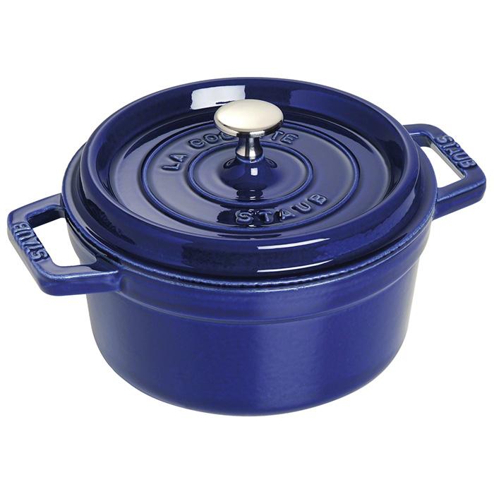 ストウブ ピコ ココット ラウンド 22cm 2.60L ダークブルー 1102291 ( 40510-265-0 ) ホーロー 鍋 なべ あす楽 対応