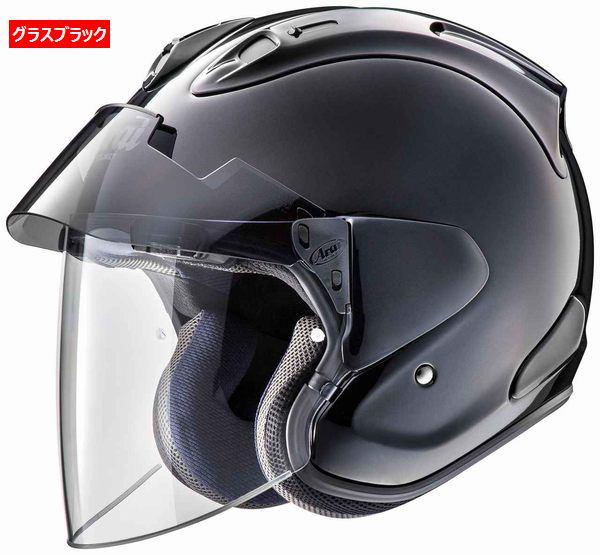 (ヘルメット バイク) ARAI (アライ) VZ-RAM PLUS (VZ-Ramプラス) へルメット グラスブラック/S(55-56)サイズ