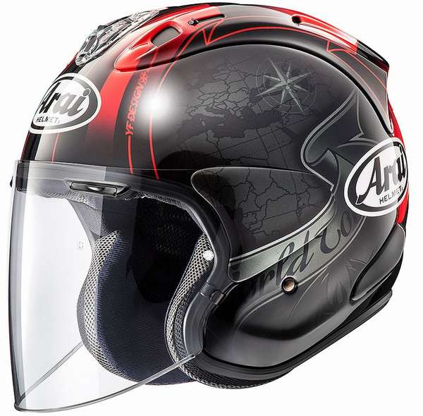 4月28日AM1時59分まで!お買物マラソン!ポイント5倍!ダブルエントリーで最大15倍!! (ヘルメット バイク) ARAI (アライ) VZ-RAM HARADA TOUR (ハラダツアー) へルメット 黒/XL(61-62)サイズ
