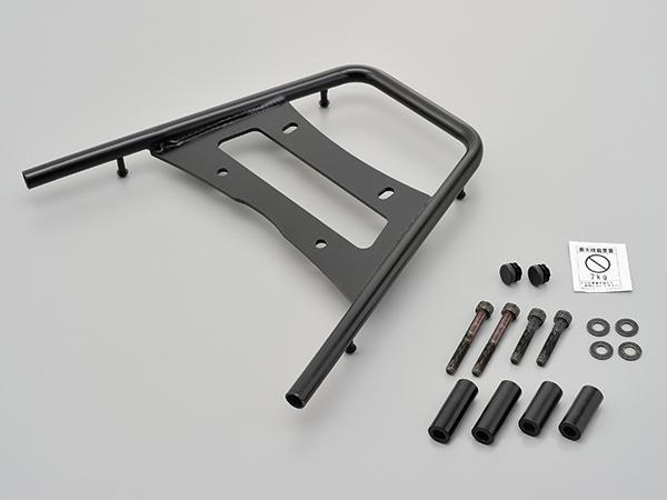 デイトナ グラブバーキャリア  PCX125/150(~'13、'18)用 黒色電着塗装仕上げ パイプ径15.9mm/積載部分寸法:長さ約313×幅(前側)350×幅(後側)162(mm) 94885
