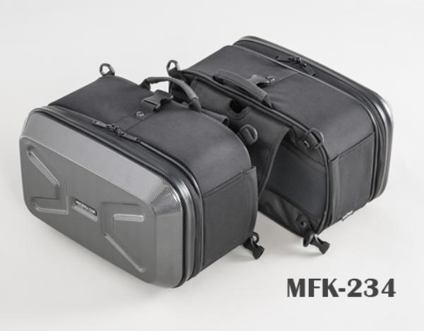 TANAX (タナックス) MFK-234 ブラック ミニシェルケース (ツーリング) カーボン柄 (サイドバッグ サドルバッグ)