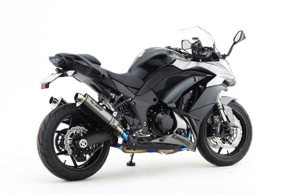 NOJIMA ENGINEERING (ノジマエンジニアリング) DLC-TITAN フルエキゾースト チタンエキゾーストパイプ/チタンサイレンサー ブラック(DLCコーティング) KAWASAKI (カワサキ) Ninja1000(17-18) NTX654GTDW-CLK