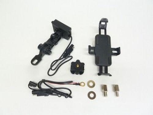 N Project (Nプロジェクト) digidock IPX5 充電クレードル USBチャージャー ユニバーサルタイプミラーマウント 14082 (携帯ホルダー スマホホルダー)
