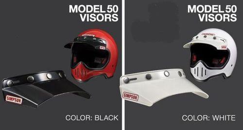 至上 SIMPSON シンプソン M50 Model バイザー 商い モデル50 50 ホワイト