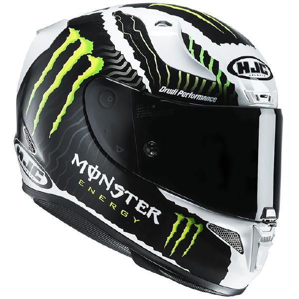 HJC RPFA11 (アルファ11) MILITARY WHITE SAND (ミリタリーホワイトサンド) ヘルメット Monster Energy (モンスターエナジー) (HJH130) (正規品 SG規格) (返品 交換 キャンセル不可商品)
