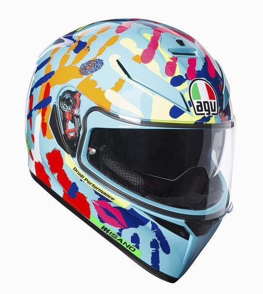 AGV K-3 SV (K3 SV) ヘルメット MISANO 2014 (ミサノ2014) サンバイザー標準装備 ピンロックシート付属 SG規格 MFJ公認 (返品 交換不可商品) (日本代理店正規品) (欠品あり 次回入荷予定未定)
