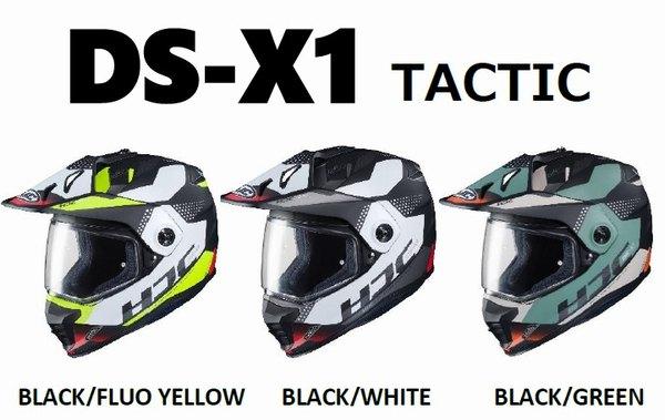 HJC ヘルメット DS-X1 タクティック HJH197 超歓迎された Lサイズ BLACK WHITE MC1SF セール 特集