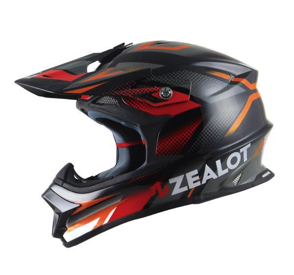 ゴッドブリンク ZEALOT (ジーロット ゼロット) Mad Jumper (マッドジャンパー) ヘルメット グラフィック ブラック/グレー (SG規格) (返品 交換 キャンセル不可商品)
