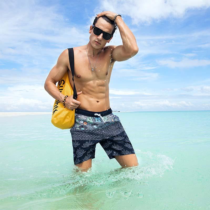 水着 メンズ 海パン 海水パンツ サーフ サーフパンツ サーフショーツ 海水浴 プール 温泉 大きいサイズ 旅行 海外旅行 post