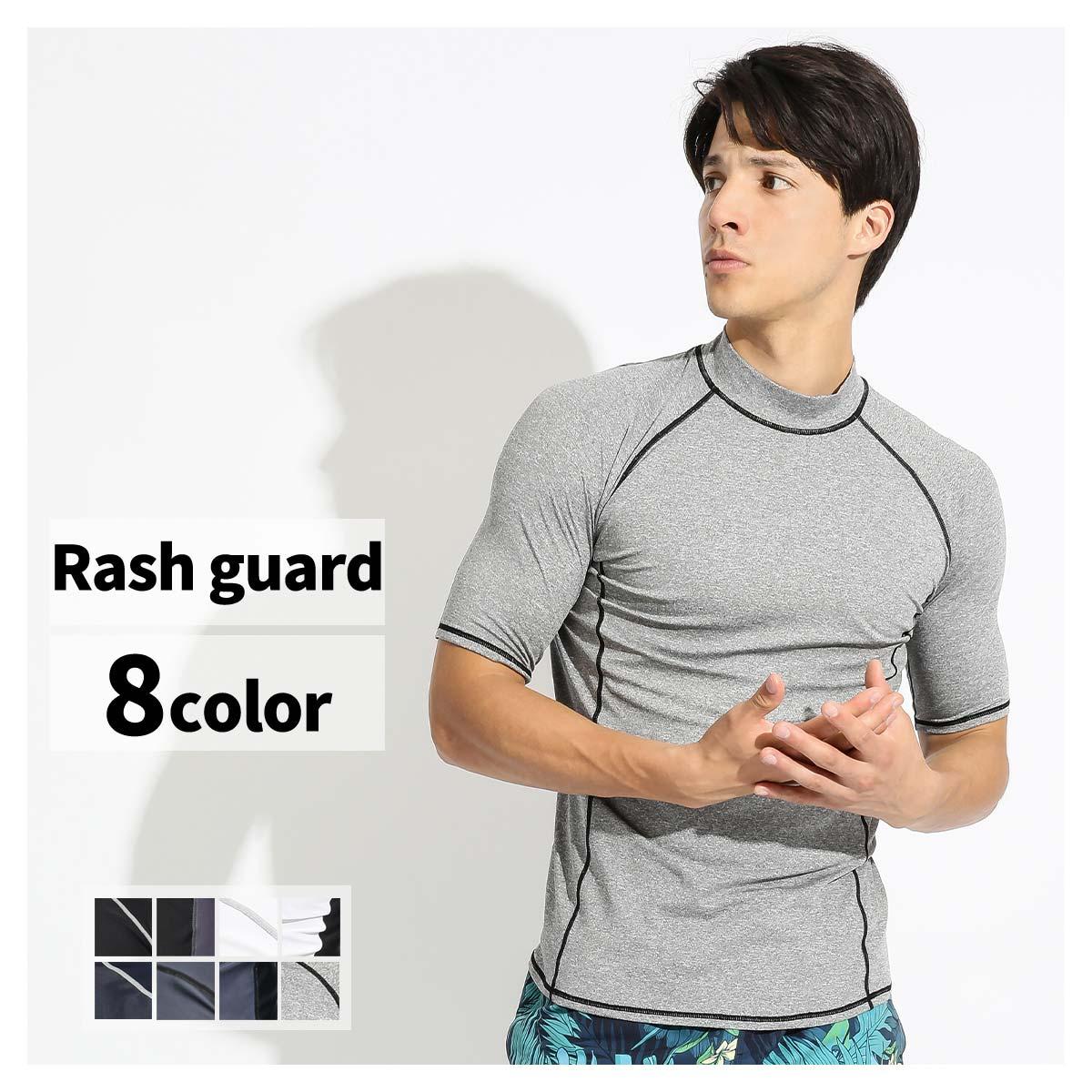 ファスナーポケット付き UPF50 UVカット ラッシュガード メンズ 半袖 Tシャツ 水着 送料無料 限定特価 スイムウェア アウトドア 紫外線対策 UPF50+ フィットネス ロングスリーブ 大きいサイズ 水陸両用 マリンスポーツ