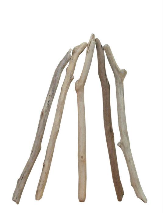 流木棒50cm以上1m未満の5本セット b410 DIYガーデニング園芸工作用インテリア店舗ディスプレイや撮影用に 、そのまま使えるきれいに処理された流木棒素材
