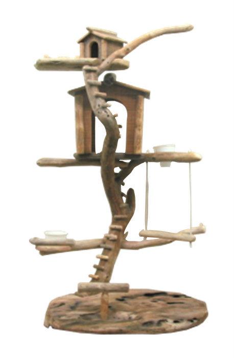 オリジナルツリーハウスな流木バードジムタワー pb29