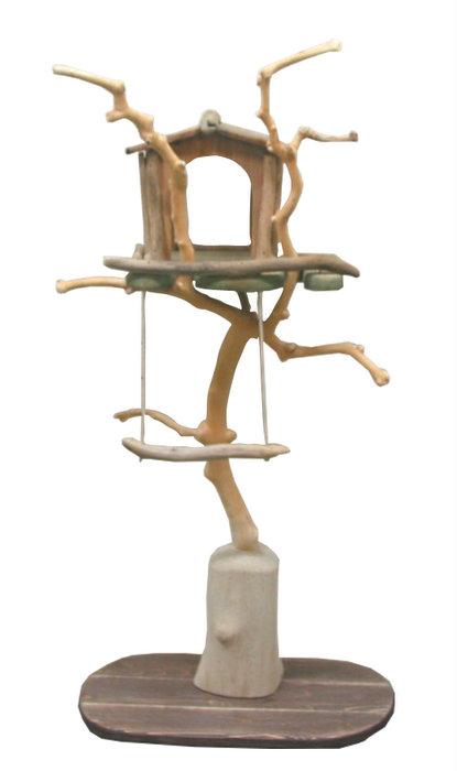限定オリジナル流木バードジムタワー pb44 オリジナル流木ペット用品