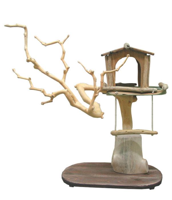限定オリジナル流木バードジムタワー pb45 オリジナル流木ペット用品