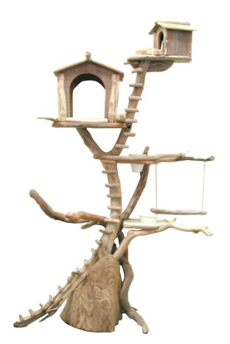流木バードタワー pb51 オリジナル流木ペット用品