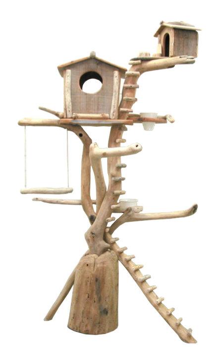 流木バードタワー pb52 オリジナル流木ペット用品