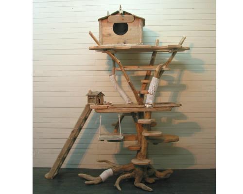 オリジナルツリーハウスな大型流木キャットタワー[pk12]
