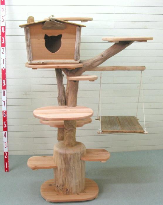 キャットタワー オリジナル流木アートキャットタワー pk29 流木アートのレットイットビーのオリジナル流木ペット用品【送料無料】
