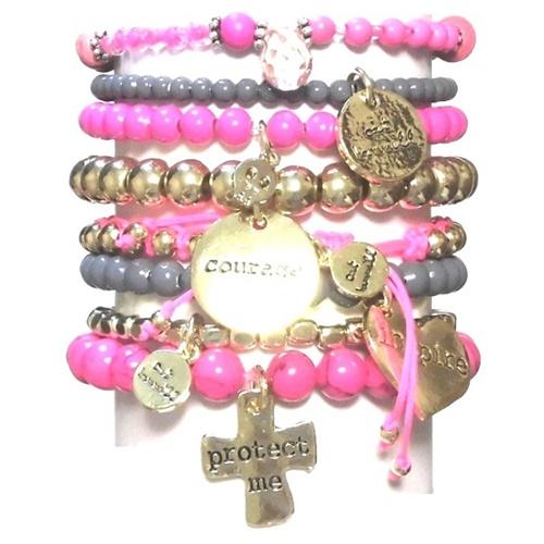 CATHAMMILL キャットハミル オーストラリア の ピンク ブレスレットセット Pop gold pink bracelet ゴールド クロス ハート ブレスレッド あくせさりー 可愛いブレスレット かわいいアクセ かわいい ブレスレット プレゼントにも素敵 海外 ブランド