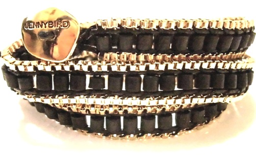 JENNY BIRD ジェニーバード カナダ の ラグジュアリー ラップブレスレット gypset triple bracelet black ジプセット ブラック 巻き付け 連 ぶれすれっと あくせさりー 巻きブレスレット お洒落 海外 ブランド