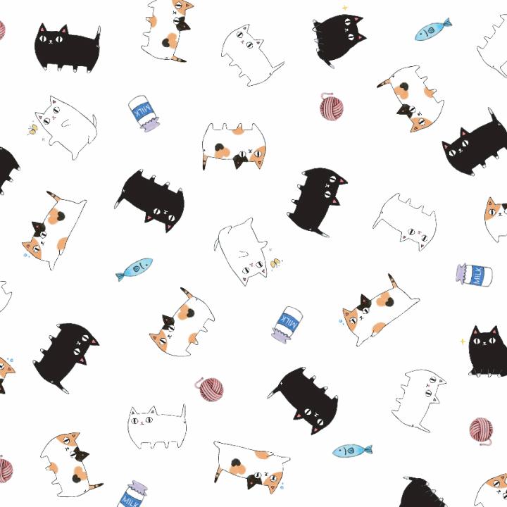 【ラッピング】包装紙 猫3兄弟