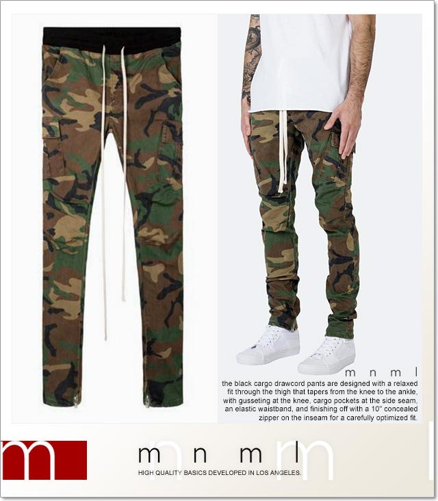(ミニマル) mnml CARGO DRAWCORD PANTS CAMO (LS:PANTS)(COLOR:CA) ボトムス ロングパンツ ジーンズ ストレッチカーゴ カモフラージュ 国内正規品