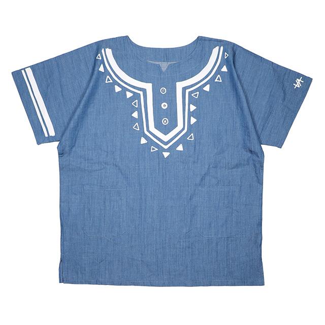 (アノッタ) AnotA×ViiDA DASHIKI (SS:TEE)(COLOR:DENIM)(※(アノッタ) AnotA×ViiDAコラボモデル) Tシャツ 半袖 カットソー 国内正規品