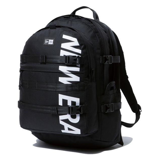 (ニューエラ) NEWERA CARRIER PACK PRINT LOGO 35L (BAG)(COLOR:BK) バッグ 鞄 リュック キャリアパック プリントロゴ 国内正規品