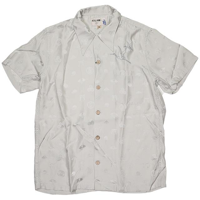 (イオラニ) 居楽仁 シルクアロハシャツ (SS:SHIRT)(151307-SV) シャツ 半袖 国内正規品