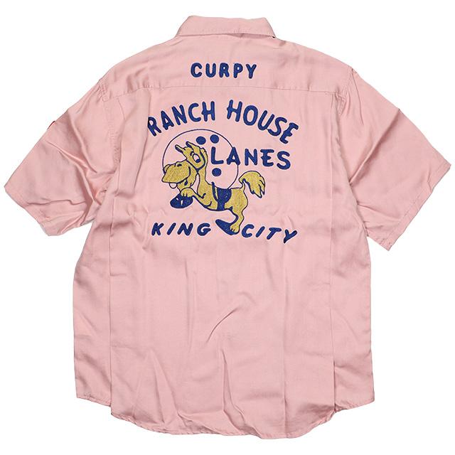 (キングルイ) KING LOUIE CURPY RANCH HOUSE LANES (SS:SHIRT)(KL33546-GPIN) シャツ 半袖 ボタン 国内正規品