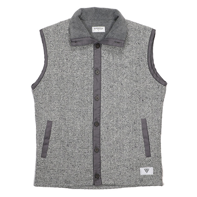 (リバーサル) REVERSAL OCEANS CABLE KNIT & FLEECE VEST (JACKET)(rvsf16aw003-GR) ジャケット アウター 国内正規品