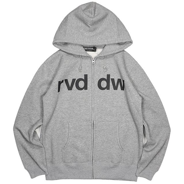 (リバーサル) REVERSAL rvddw SWEAT ZIP PARKA (ZIP HOOD)(rvbs009-GR) スウェット パーカー ジップアップ 国内正規品