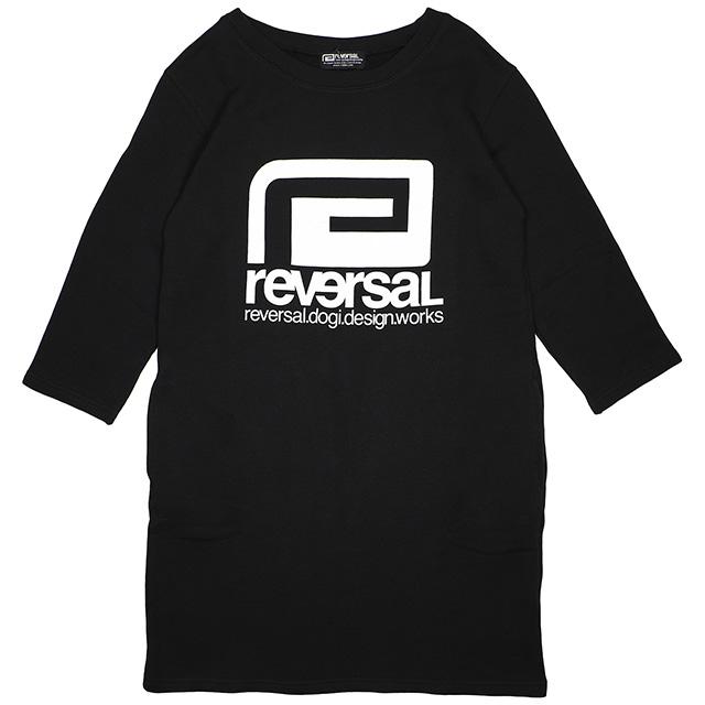 (リバーサル) REVERSAL BIG MARK SWEAT ONEPIECE (ONEPIECE)(rv17aw025-BK) スウェット トレーナー クルー 長袖 ワンピース 女性用 国内正規品