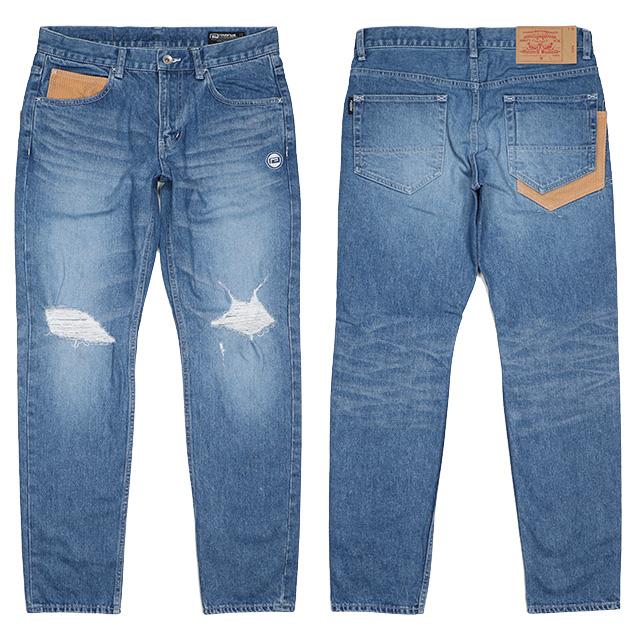 (リバーサル) REVERSAL GI STRETCH DAMAGE DENIM (LS:PANTS)(rv17aw007-BL) ボトムス ロングパンツ ジーンズ デニム ストレッチ 国内正規品